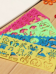 Children's Easy Drawing Ruler (Random Colors)