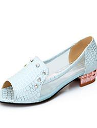 DONNE - Scarpe col tacco - Tacchi/Spuntate/Plateau - Tacco spesso Similpelle - Blu/Bianco