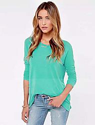 NJE   Women's Casual Long Sleeve T-Shirts (Cotton)