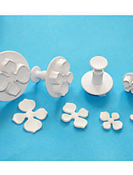 FOUR-C Hydrangea Fondant Cake Decorating Plunger Cutters,Sugar Art Cutters,Cake Design Tools