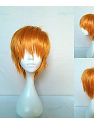 Newest Men's Cosplay Wig Party Wigs Short Straight Blonde Animated Synthetic Hair Wigs  Cartoon Wig