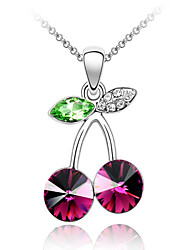 Lucky Star Woman Should Have Noble Temperament Flawless Cherry Crystal Necklace (More Colors)
