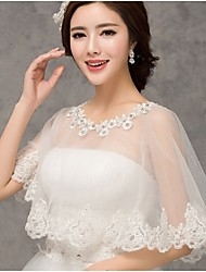 Wedding  Wraps Capelets Sleeveless Tulle Ivory