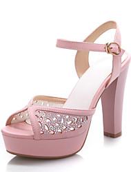Women's Shoes Chunky Heel Platform/Slingback Sandals Dress Blue/Pink/White