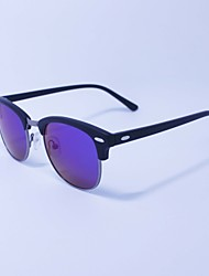 100% UV polarizado gafas de sol redondas