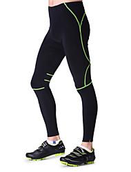 outto calças dos homens de bicicleta compressão acolchoado de design anatômico calças de ciclismo respirável reflexivas Plus Size