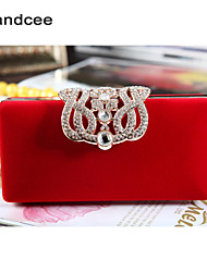 Handcee® Women Elegance Design Flannelette Evening Bag