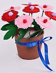 moda bricolaje libre eva macetas corte trabajo hecho a mano materail (color de la flor al azar)