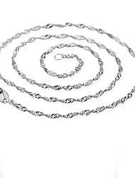 Men's Women's Chain Necklaces Silver Sterling Silver Gold Plated Fashion Costume Jewelry Jewelry For Party Daily Casual