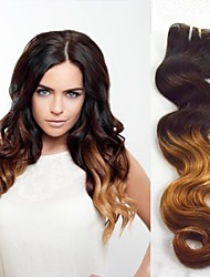 "3pcs / lot 8 ""-30"" brasilianische reine Haarfarbe (1b / 27) Körperwellenhaar"