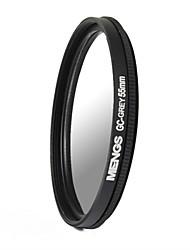 MENGS® 55mm Graduated GREY Filter For Canon Nikon Sony Fuji Pentax Olympus Etc Digital And DSLR Camera