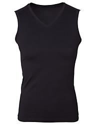Men's V-Neck Cotton Stretch Tight Sleeveless Tank Top