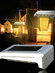 ACMESHINE Aluminum+ABS Rechargeable Outdoor Solar Motion Sensor Light Solar Led Outdoor Wall Light(No Battery Included)