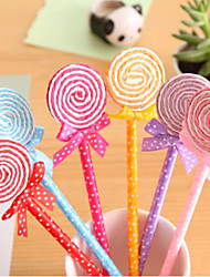 Colorful Lollipop Shaped Ball Pen(Random Color)