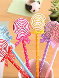Colorful Lollipop a forma di penna a sfera (colore casuale)