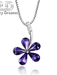 Poetry Dreams Sterling Silver Petal Pendant with 18'' Sterling Silver Necklace