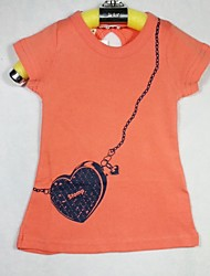 Girl's Summer Stretchy Thin Short Sleeve Tanks & Camis/Tees (Cotton)