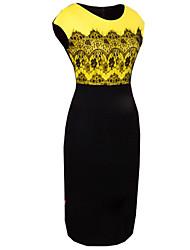 morefeel novo vestido elegante laço das mulheres