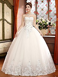 Ball Gown Petite Wedding Dress Sweep / Brush Train Sweetheart Tulle with
