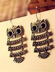 Canlyn Vintage Owl Drop Earrings CE169