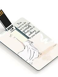 16gb девушка дизайн карты USB флэш-накопитель