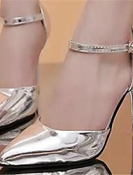 Stiletto - 6-9cm - Damenschuhe - Pumps/Heels ( Gummi , Gold/Silber )