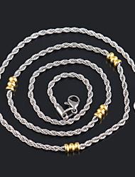 Gargantillas/Collares de cadena/Collar/Strands Collares ( Acero inoxidable ) - Fiesta/Diario/Casual/Deportes/N/A