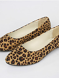 Women's Shoes Flat Heel Pointed Toe Flats Casual AnimalPrint