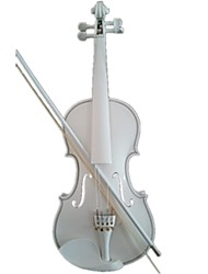 Student Acoustic Violin Full 4/4 Maple Spruce with Case Bow Rosin All White Color