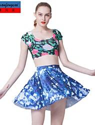 falda estampada sexy mediados de cintura delgada falda plisada ocasional al-partido ropa underdress de cmfc®women