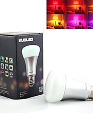 Ampoules LED Intelligentes Gradable / Commandée à Distance / Décorative RGB MORSEN 1 pièce E26/E27 7W LM AC 85-265 V