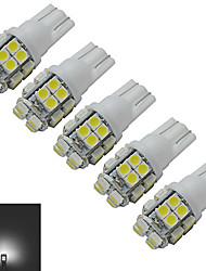1.5W T10 Декоративное освещение 20 SMD 3528 85lm lm Холодный белый DC 12 V 5 шт.