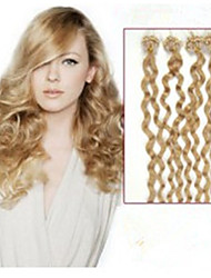 1pc/Lot 20Inch/50cm multicolors curly micro ring hair Extension Grade5A Human Hair Extension 100s/Pack 0.5g/s