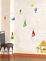 adesivos de parede adesivos de parede, veleiro criativo parede pvc adesivos