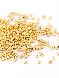 New 500PCS Small Gold Nail Art Jewelry Alloy Waterdrop/Teardrop Slice Nail Art Stud for DIY Salon Nails Decorations