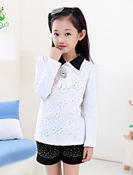 Girl's Cotton Blouse , Summer/Spring Long Sleeve