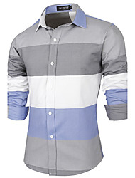 Manni Men's Long Sleeve Casual Shirts (Cotton)