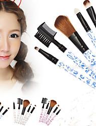 m0155 5pcs leopardo pólo acrílico profissional escova escovas cosméticas da composição três opções de cores