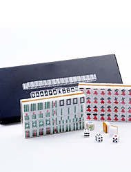 Leather Boxed Poketable Travel Mini Mahjong with Ruler