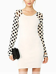 Jimi Women's Elastic Grenadine Dots Dress