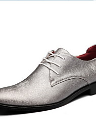 Men's Shoes Casual Oxfords Black/Yellow/Silver