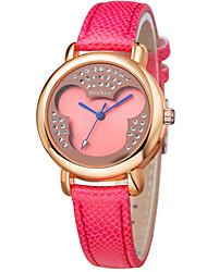 venta caliente muy de moda coloridos dibujos animados correa de cuero de línea de cristal relojes coloridos dc-51073