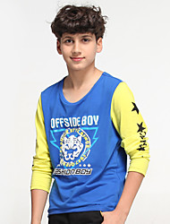 OFFSIDE®2015 Spring/Fall 100% Cotton Knitted Fabric Long Sleeve Fashion Design O-Neck Boys Tees/Clothing