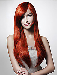 Fashion Red High Temperature Long Straight Hair Silk Wig