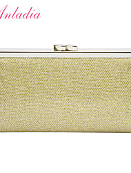 Anladia Ladies Evening Clutch Bag Bridal Clutch Womens Silver Clutch Purse Gold Black