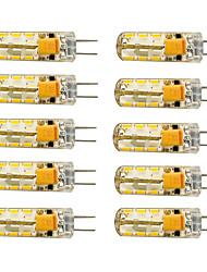 10pcs g4 1.5w 24x3014smd 120lm 3000k / 6000k warmwhite / cool white light led bulbe de maïs (ac / dc10-20v)