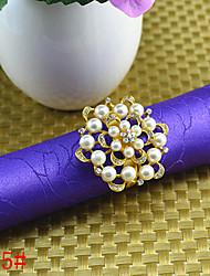 6pcs Daisy Beaded Nnapkin Ring