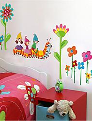 adesivos de parede decalques de parede, lagartas parede pvc etiquetas