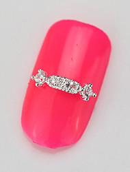 10PCS RG131 Luxury Zircon 3D Alloy Nail art Decoration Diamond Nail Salon Supplier DIY Accessories Nail Rhinestone