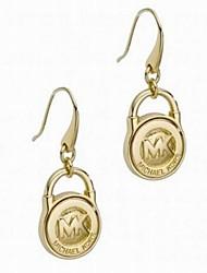 Grace Round Lock Letters Earrings